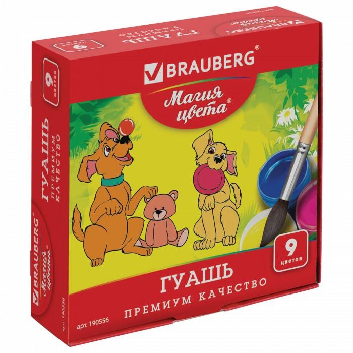 Краски Brauberg Гуашь Магия цвета 9 цветов по 20 мл гуашь action dragons 9 цветов dr gp 9