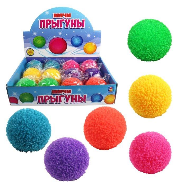 Мячики и прыгуны 1 Toy Мячик снежок со светом 6.5 см
