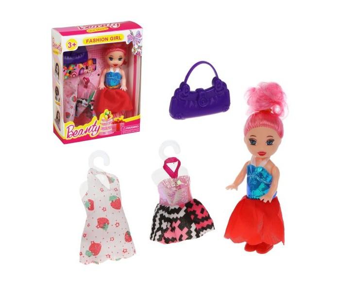 Фото - Куклы и одежда для кукол Наша Игрушка Кукла 7,5 см с аксессуарами сумки для детей наша игрушка сумочка радуга 20х16 см