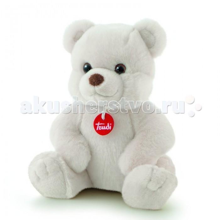 Мягкая игрушка Trudi Белый медвежонок Толомео 21 смБелый медвежонок Толомео 21 смМягкая игрушка Trudi Белый медвежонок Толомео 21 см. Веселый медвежонок приехал прямиком с полярного круга. Теперь ему необходима ласка и забота. Играйте с плюшевым другом, обнимайте и засыпайте вместе с ним. Ведь его так приятно держать в руках.  Шерстка у медвежонка белая. Однако не бойтесь, что она окажется слишком маркой. Стирать игрушку можно в машинке: она не порвется и не деформируется. А на шее у плюшевого медвежонка красный медальон от Trudi, лучшего производителя мягких игрушек.  Размер медвежонка — 21 см<br>