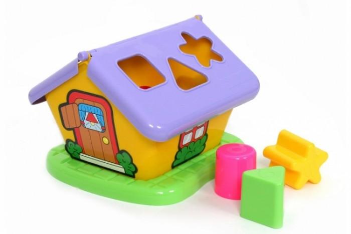 полесье сортер полесье домик для зверей в коробке Сортеры Полесье Логический Садовый домик