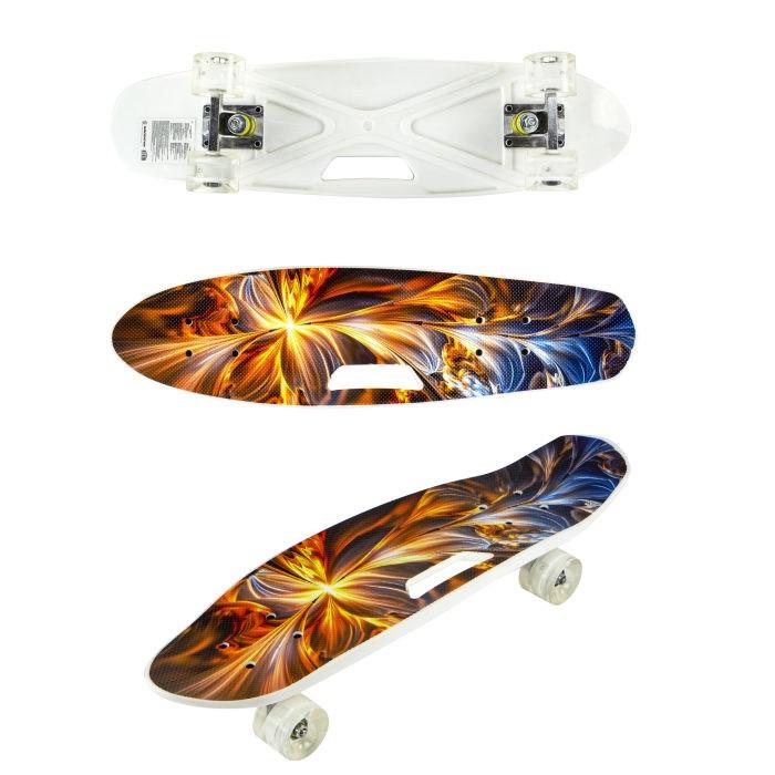 Navigator Скейтборд пластиковый со светом Т17042