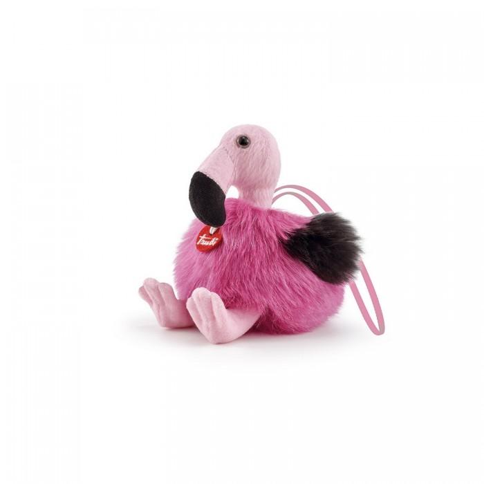 Мягкая игрушка Trudi Фламинго-пушистик на веревочке 11x12x13 см