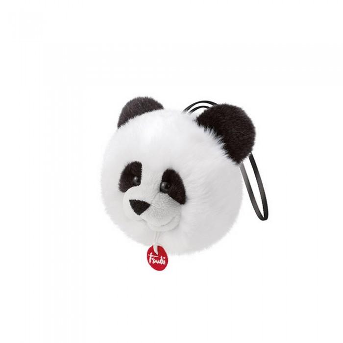 Купить Мягкие игрушки, Мягкая игрушка Trudi Панда-пушистик на веревочке 12х11х9 см