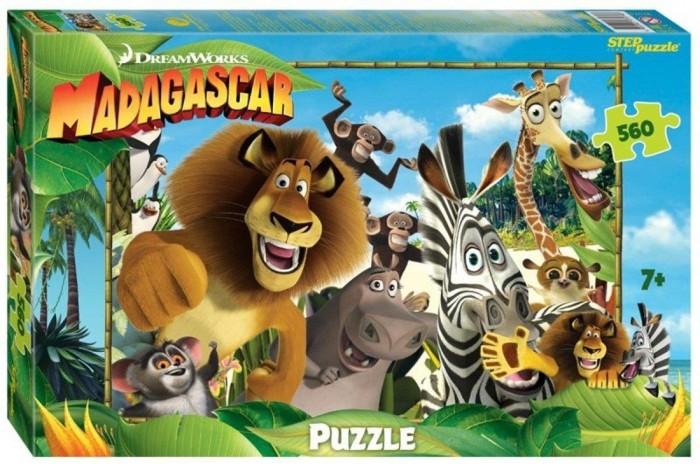 Пазлы Step Puzzle Пазл Мадагаскар-3 (560 деталей) пазл step puzzle park