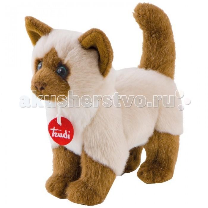 Мягкая игрушка Trudi Сиамская кошка Грета 21 смСиамская кошка Грета 21 смМягкая игрушка Trudi Сиамская кошка Грета 21 см. Плюшевая игрушка в виде сиамской кошки от компании Trudi заменит вашему ребенку настояшее домашнее животное! У нее даже есть имя — Грета! Она удивительно мягкая на ощупь, из-за чего ее хочется гладить не переставая. Ваш малыш будет удовольствием играть с пушистой кошечкой, и не расстаться с ней не сможет даже во время сна.   И раскраска не подвела! Будто перед вами действительно живое животное! Сделана игрушка из прочного и гипоаллергенного материала. Ее можно стирать в стиральной машинке и не бояться, что она испортится. У этой кошечки жизней больше девяти! Со своими владельцами она проживет намного дольше!  Игрушка поможет развить у вашего малютки мелкую моторику, зрение, визуальное восприятие, и тактильные навыки.  Размером Грета как настоящая кошка — 21 см<br>