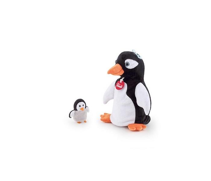 Купить Ролевые игры, Trudi Мягкая игрушка на руку Пингвин с пингвиненком 17х25х13 см