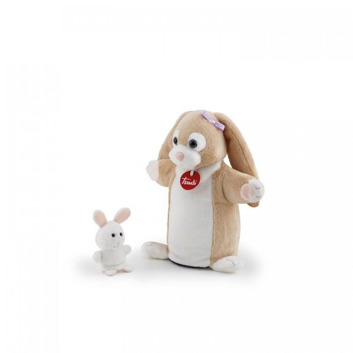 Ролевые игры, Trudi Мягкая игрушка на руку Зайчиха с зайчонком 24x23x9 см  - купить со скидкой