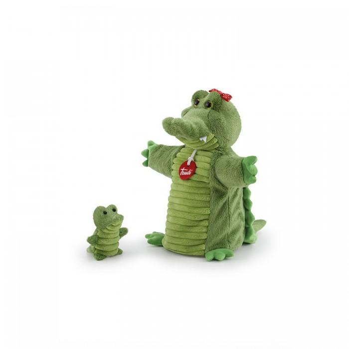 Картинка для Ролевые игры Trudi Мягкая игрушка на руку Крокодил с крокодильчиком 26x24x11 см