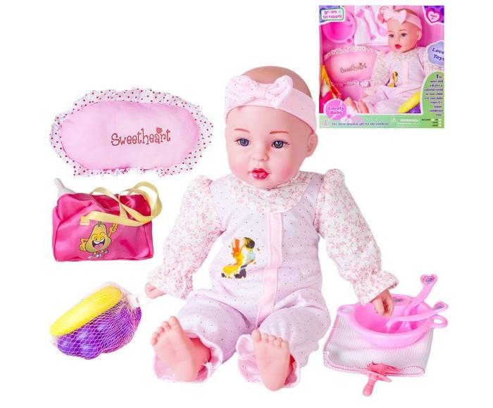 Куклы и одежда для кукол Наша Игрушка Кукла Машенька мягконабивная 40 см (10 предметов)