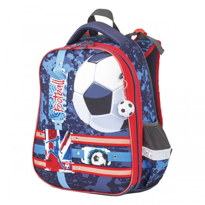Купить Школьные рюкзаки, Brauberg Premium Ранец с брелком Football