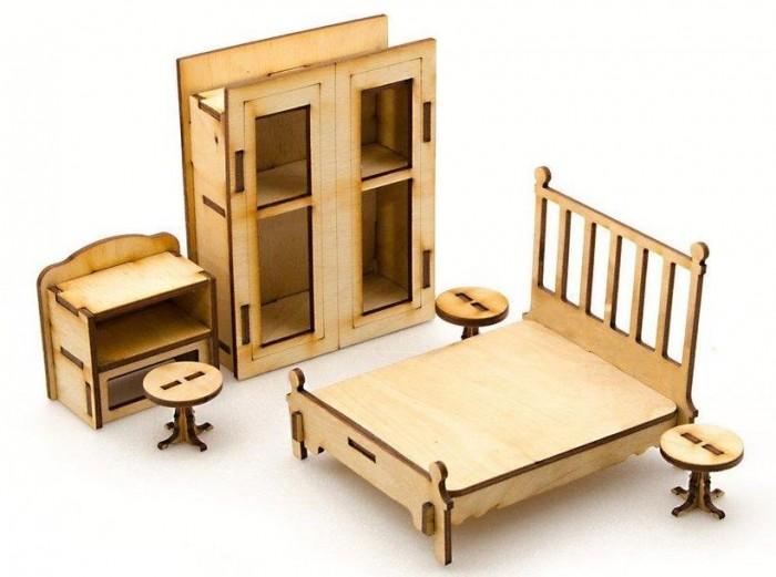 Кукольные домики и мебель Теремок Спальня КМ-5 конструктор тумбы прикроватные