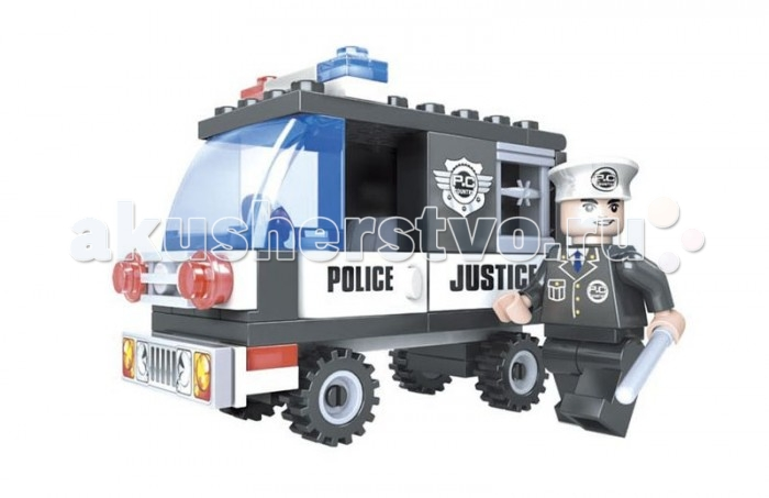 Конструкторы Ausini Полиция 58 деталей ausini конструктор гонки 26703