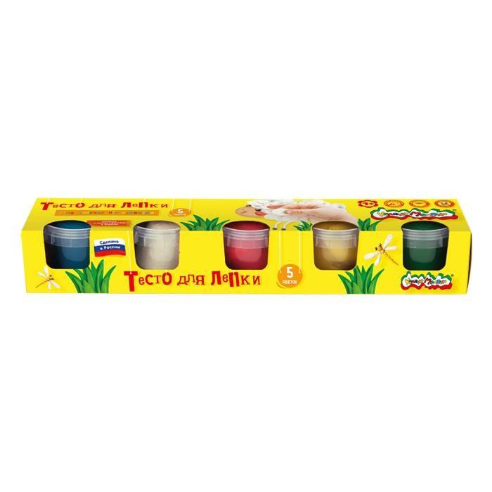Тесто для лепки Каляка-Маляка Тесто для лепки 5 цветов луч тесто для лепки 6 цветов