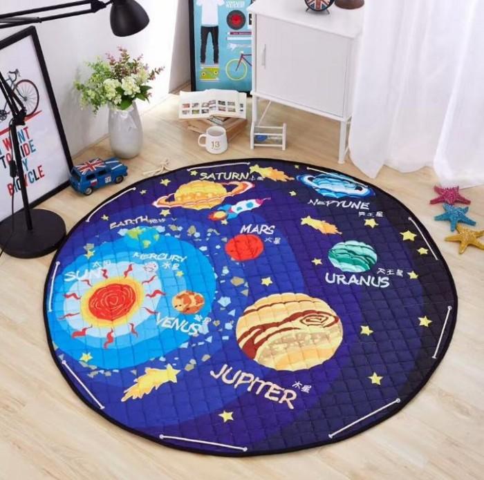 Купить Детские ковры, Porolon Стеганый игровой коврик-мешок Планеты 1, 5м