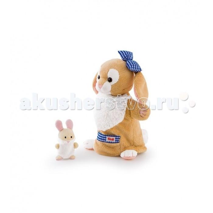 Ролевые игры Trudi Игрушка на руку Зайчиха с зайчонком 28 см