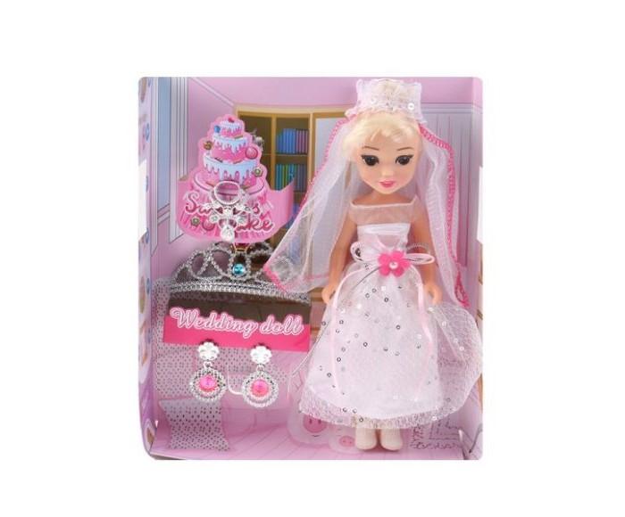 Купить Куклы и одежда для кукол, Наша Игрушка Кукла-невеста 22 см (4 предмета)