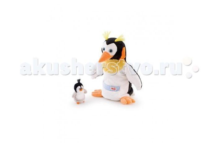 Trudi Игрушка на руку Пингвин с пингвиненком 28 смИгрушка на руку Пингвин с пингвиненком 28 смTrudi Игрушка на руку Пингвин с пингвиненком 28 см. Это веселые и, одновременно, развивающие игрушки. Их можно одеть на руку и создать свой домашний кукольный театр! Управлять куклами могут и дети, и родители: на роль пингвина отлично подойдут руки взрослых, а пингвиненком без труда сможет управлять сам ребенок. Веселые семейные спектакли с игрушками помогут развить воображение, творческие способности и мелкую моторику у всех участников постановки.   Высота самой большой игрушки 28 сантиметров. Плюшевые создания удобно размещается руке, как детской, так и взрослой. Ребенок может смело ставить веселые постановки, играть и даже засыпать вместе с любимой игрушкой.   Оба товара можно стирать в стиральной машинке без опаски, что они выцветут или порвутся. Поэтому можно смело играть в театр и дома, и на улице.<br>