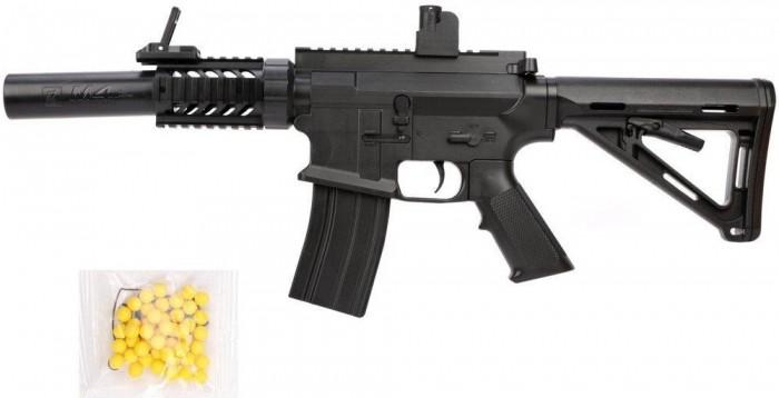 Фото - Игрушечное оружие Наша Игрушка Автомат механический с пулями 50 шт. GE2203 автомат с трещеткой 23см наша