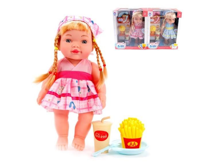Куклы и одежда для кукол Наша Игрушка Кукла-повар озвученная 30 см (6 предметов)