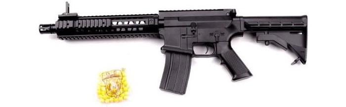 Фото - Игрушечное оружие Наша Игрушка Автомат механический с пулями 50 шт. GE2210 автомат с трещеткой 23см наша