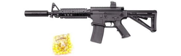 Фото - Игрушечное оружие Наша Игрушка Автомат механический с пулями 50 шт. GE2208 автомат с трещеткой 23см наша
