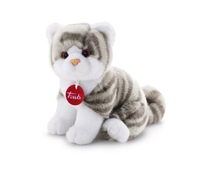 Мягкие игрушки Trudi Котёнок Брэд серо-белый 24 см