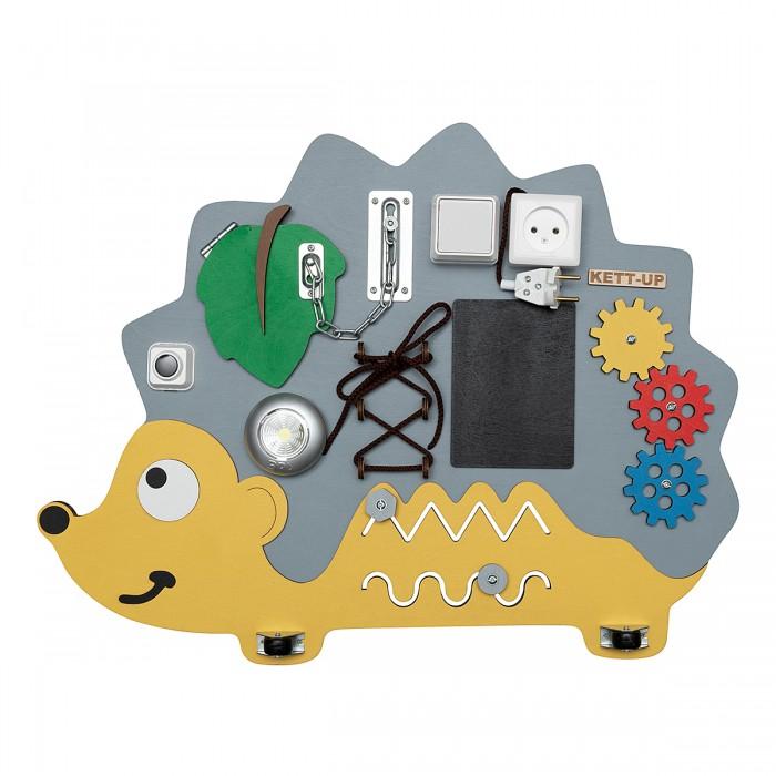 Картинка для Деревянная игрушка Kett-Up Бизиборд Добрый ежик