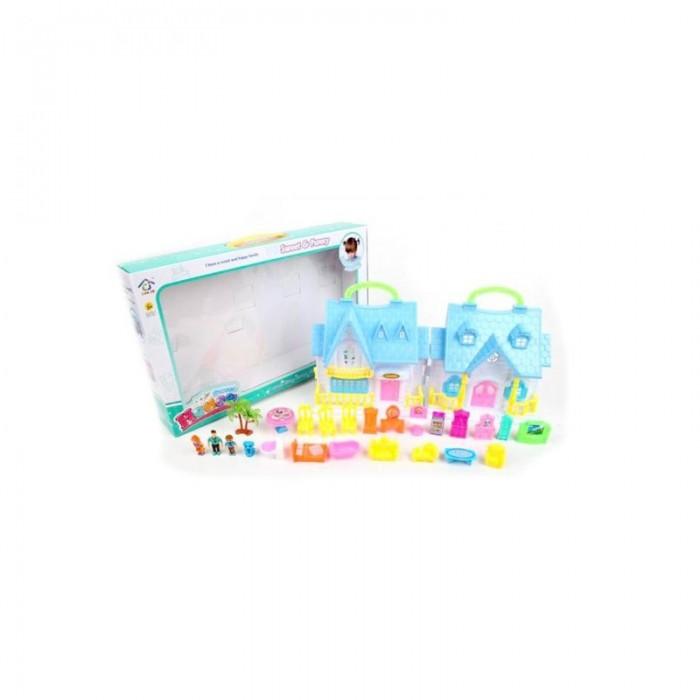 Картинка для Кукольные домики и мебель Наша Игрушка Домик складной с фигурками (25 предметов)