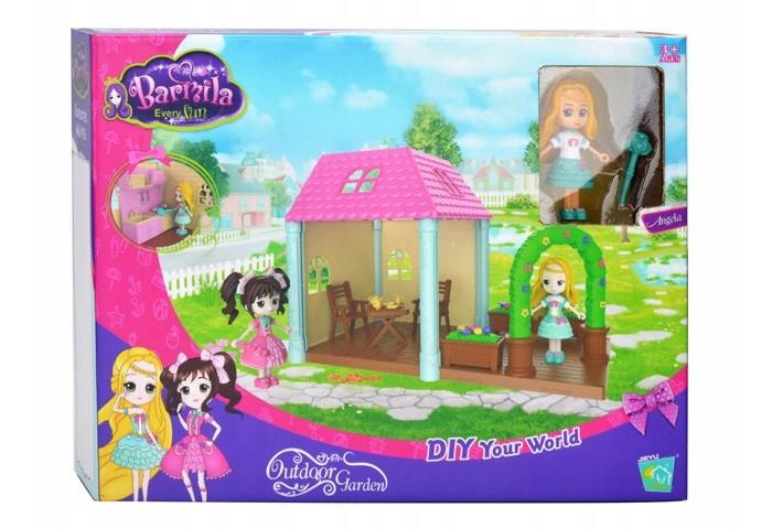 Картинка для Кукольные домики и мебель Наша Игрушка Домик-веранда с фигуркой (13 предметов)