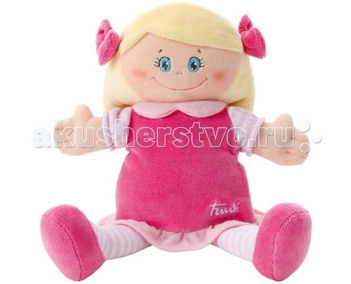 Trudi Мягкая кукла в малиновом платье 24 см