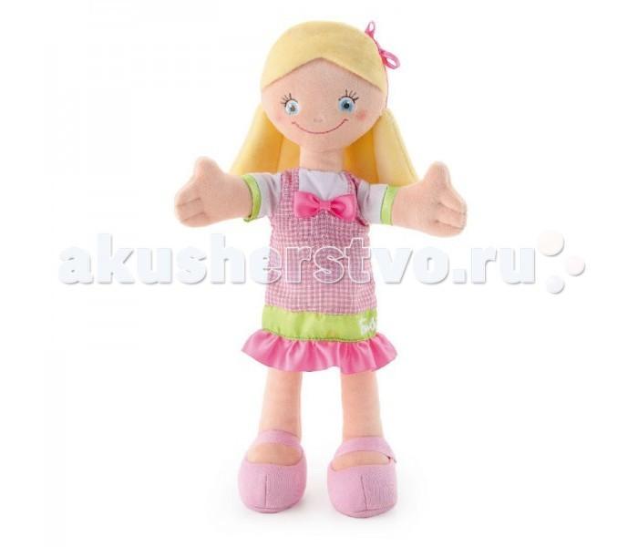 Trudi Мягкая кукла в розовом платье с бантом 30 см