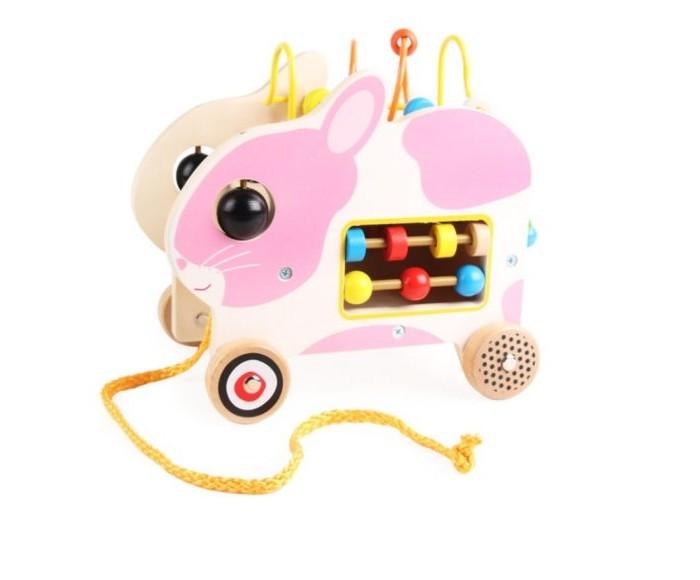 Деревянные игрушки Наша Игрушка Лабиринт-каталка Зайчик на веревочке