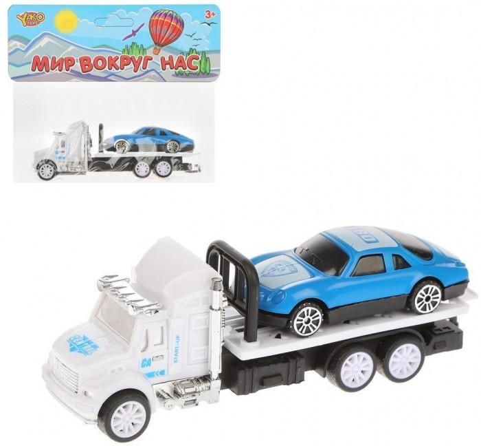 Машины Наша Игрушка Игровой набор Автовоз M0324 машины технопарк набор автовоз с машинкой 15 см