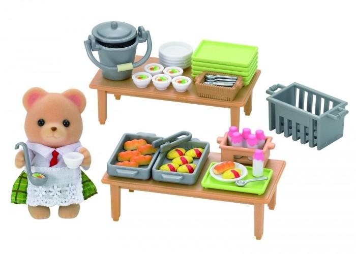Игровые наборы Sylvanian Families Набор Школьный обед набор холодильник с продуктами sylvanian families