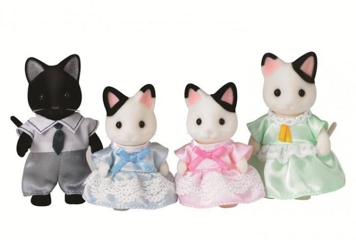 Игровые наборы Sylvanian Families Набор Семья Чёрно-белых котов sylvanian families набор фигурок семья белых мышей