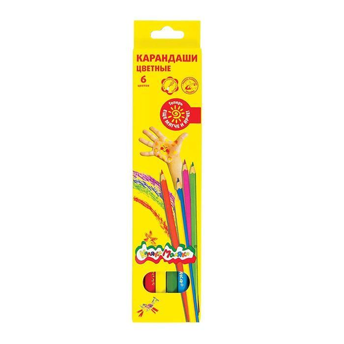 Фото - Карандаши, восковые мелки, пастель Каляка-Маляка Карандаши цветные шестигранные 6 цветов карандаши цветные каляка маляка 18 цветов