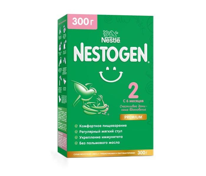 Фото - Молочные смеси Nestogen 2 Сухая молочная смесь для регулярного стула с 6 мес. 300 г сухие nestogen молочная смесь nestogen 1 с рождения 700 г