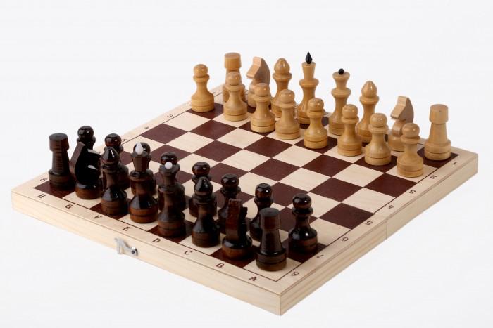 Настольные игры Орловская Ладья Шахматы обиходные лакированные с доской 29х14.5 см
