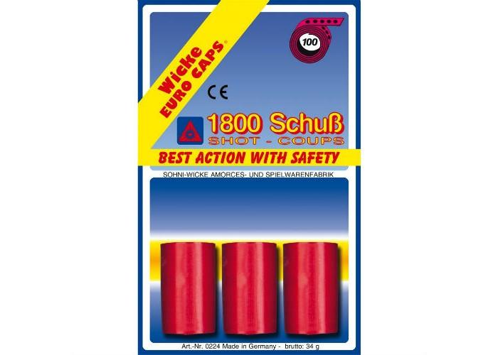 Игрушечное оружие Sohni-wicke Игрушечные 100-зарядные пистоны 1800 шт. 100 зарядные пистоны 600 шт sohni wicke