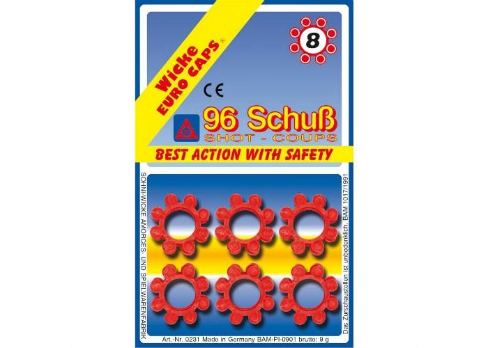 Игрушечное оружие Sohni-wicke Игрушечные 8-зарядные пистоны 96 шт. 100 зарядные пистоны 600 шт sohni wicke