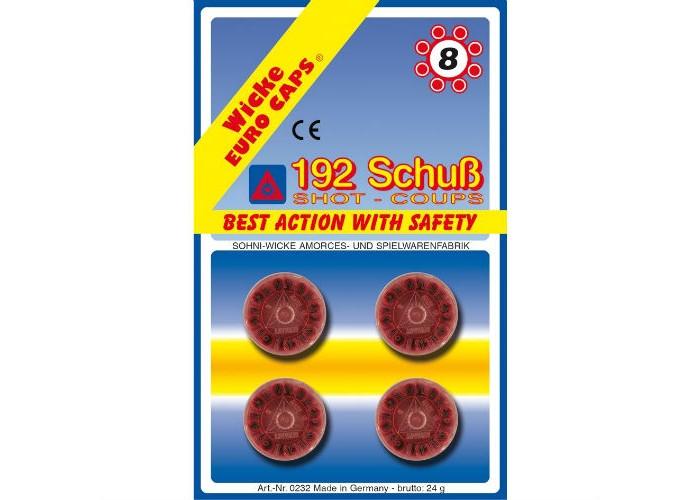 Игрушечное оружие Sohni-wicke Игрушечные 8-зарядные пистоны 192 шт. 100 зарядные пистоны 600 шт sohni wicke