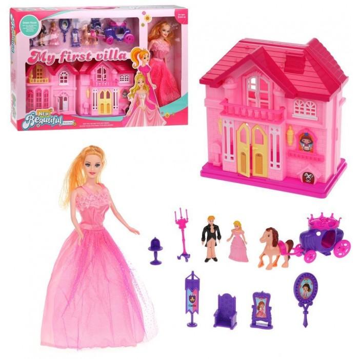 Картинка для Кукольные домики и мебель Наша Игрушка Игровой набор Кукольный домик с куклой (12 предметов)