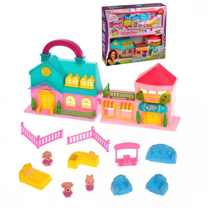 Кукольные домики и мебель Наша Игрушка Игровой набор Кукольный домик с питомцами (12 предметов)