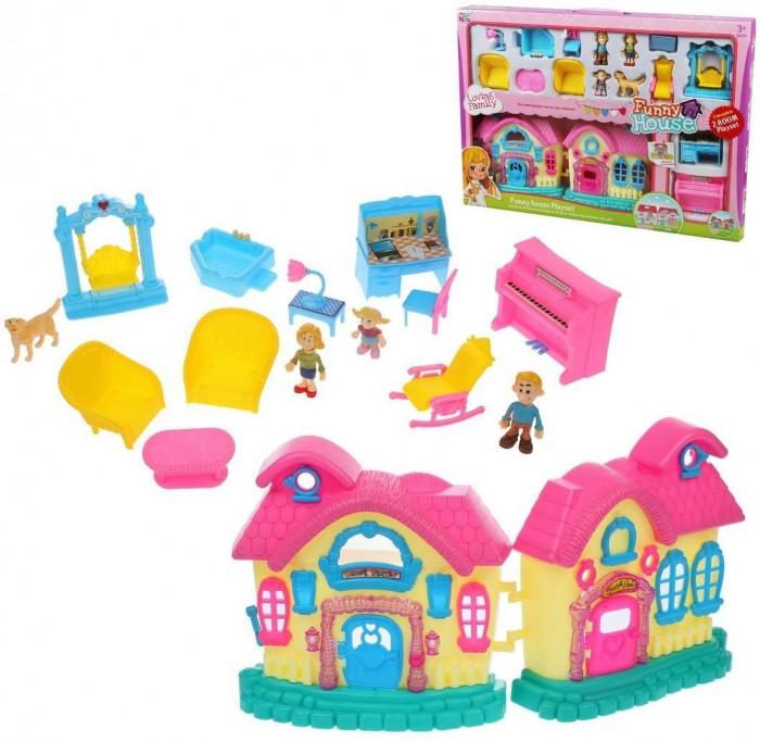 Купить Кукольные домики и мебель, Наша Игрушка Игровой набор Кукольный домик (16 предметов)