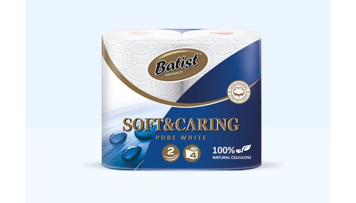 Хозяйственные товары Batist Туалетная бумага белая 2-х слойная 4 шт.