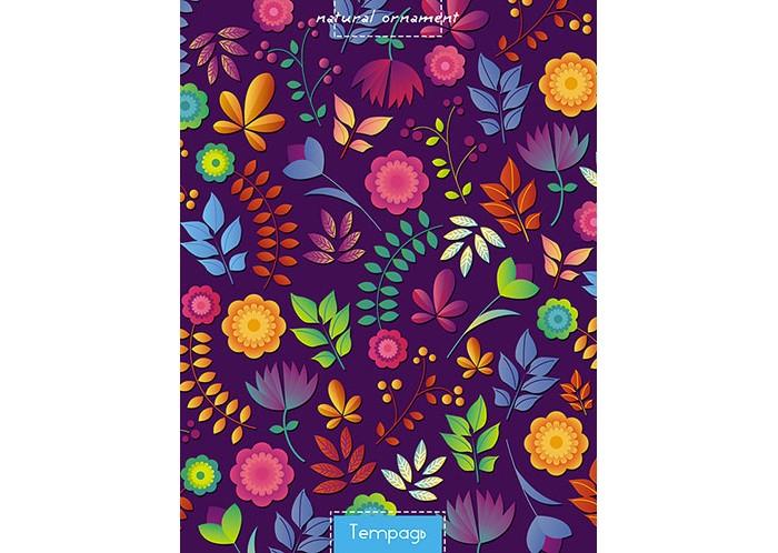 Тетради Апплика Тетрадь в клетку на гребне Цветочный узор А5 48 листов бриз тетрадь swatch 160 листов в клетку