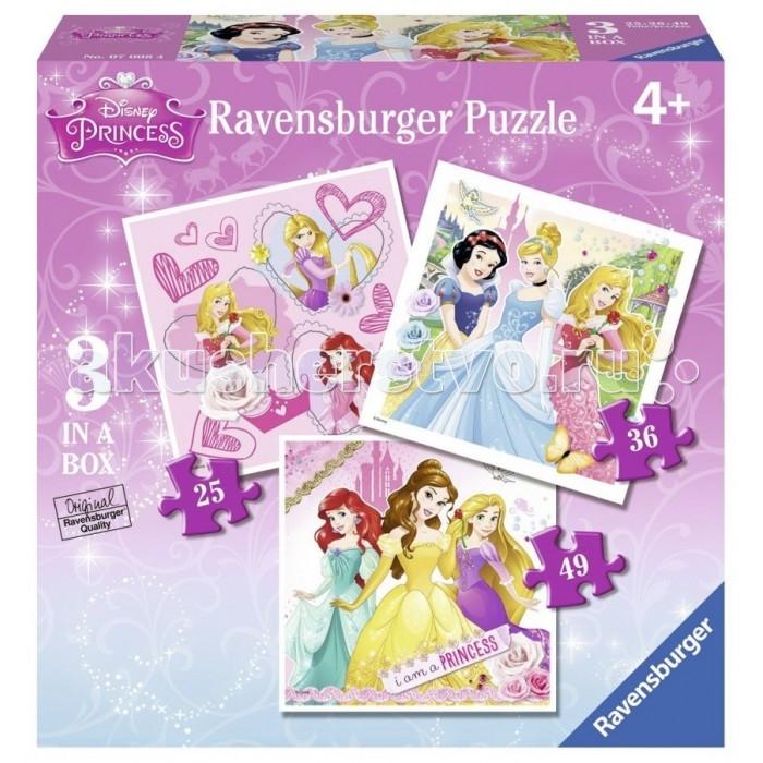 Пазлы Ravensburger Пазл 3-в-1 Принцессы 1х25, 1х36 и 1х49 элементов ravensburger 3 1