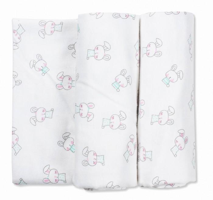 Пеленка Чудо-чадо для новорожденных фланелевая Тренды Зайчики 2 шт.