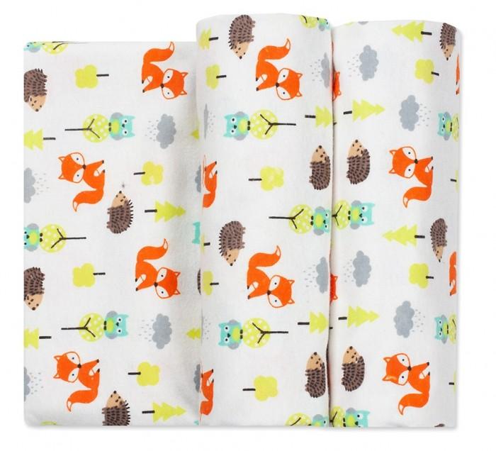 Пеленка Чудо-чадо для новорожденных фланелевая Тренды Лес 2 шт.